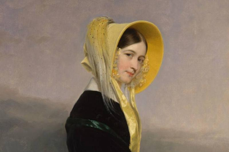 painting of a girl in a bonnet from 1842