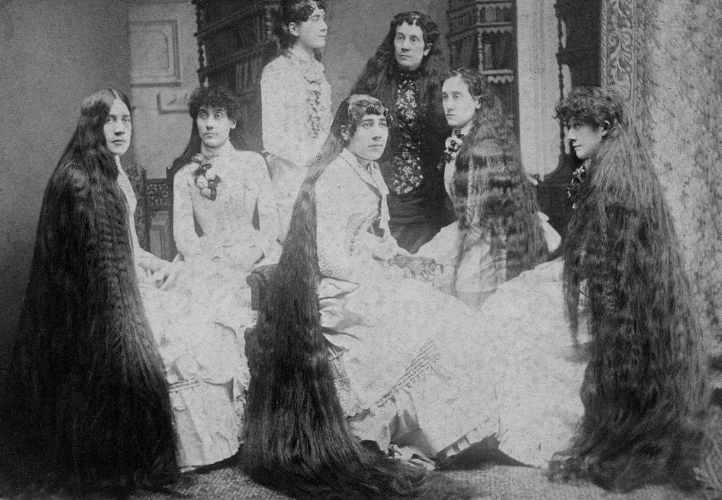 the seven sutherland sisters with long hair